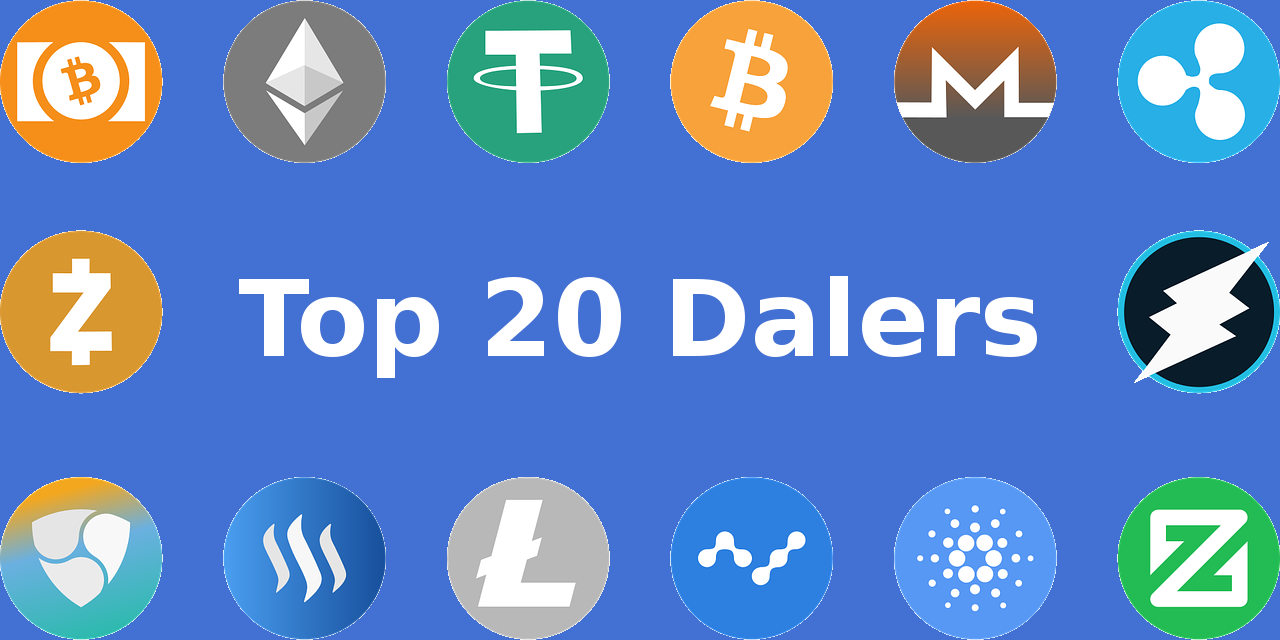 Cryptomunten top 20 dalers