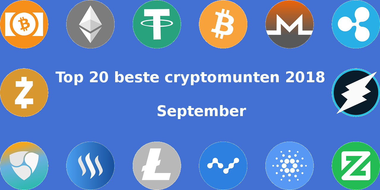 De 20 beste cryptomunten van 2018 in september